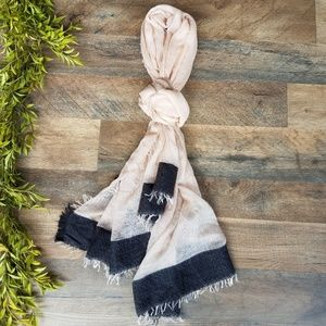Accessories - Crepe Pink and Black Scarf